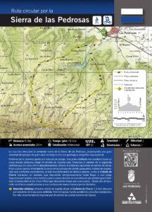 Cartel Ruta Sierra de las Pedrosas
